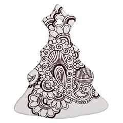 Henna Line Art Clipart Ornament (christmas Tree)