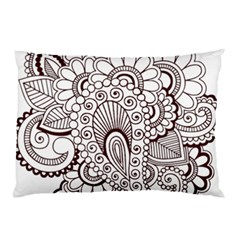 Henna Line Art Clipart Pillow Case (two Sides)