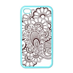 Henna Line Art Clipart Apple iPhone 4 Case (Color)