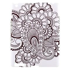 Henna Line Art Clipart Apple iPad 3/4 Hardshell Case