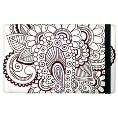 Henna Line Art Clipart Apple Ipad 2 Flip Case