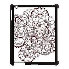 Henna Line Art Clipart Apple Ipad 3/4 Case (black)