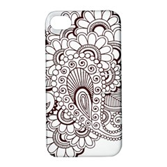 Henna Line Art Clipart Apple Iphone 4/4s Hardshell Case With Stand