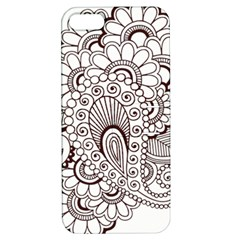 Henna Line Art Clipart Apple Iphone 5 Hardshell Case With Stand