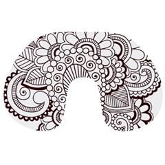 Henna Line Art Clipart Travel Neck Pillows