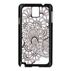 Henna Line Art Clipart Samsung Galaxy Note 3 N9005 Case (black)