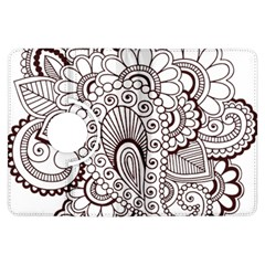 Henna Line Art Clipart Kindle Fire HDX Flip 360 Case