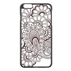 Henna Line Art Clipart Apple Iphone 6 Plus/6s Plus Black Enamel Case