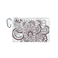 Henna Line Art Clipart Canvas Cosmetic Bag (s)