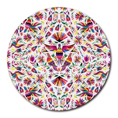 Otomi Vector Patterns On Behance Round Mousepads