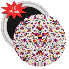 Otomi Vector Patterns On Behance 3  Magnets (10 Pack)