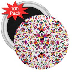Otomi Vector Patterns On Behance 3  Magnets (100 pack)