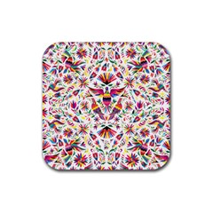 Otomi Vector Patterns On Behance Rubber Square Coaster (4 pack)
