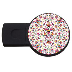 Otomi Vector Patterns On Behance Usb Flash Drive Round (4 Gb)