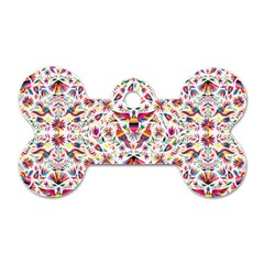 Otomi Vector Patterns On Behance Dog Tag Bone (one Side)