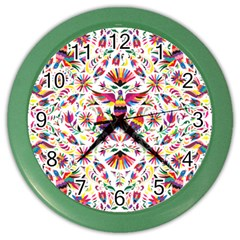 Otomi Vector Patterns On Behance Color Wall Clocks