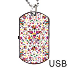 Otomi Vector Patterns On Behance Dog Tag USB Flash (One Side)