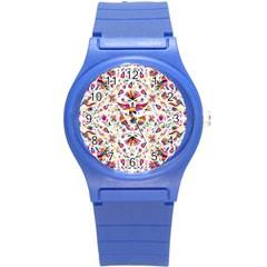 Otomi Vector Patterns On Behance Round Plastic Sport Watch (s)