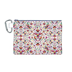 Otomi Vector Patterns On Behance Canvas Cosmetic Bag (M)