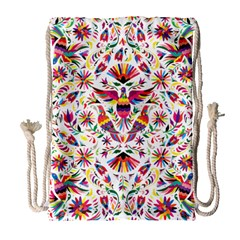 Otomi Vector Patterns On Behance Drawstring Bag (large)