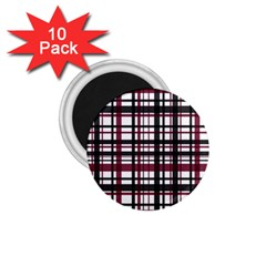 Plaid Pattern 1 75  Magnets (10 Pack)