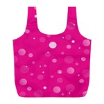 Decorative dots pattern Full Print Recycle Bags (L)  Back