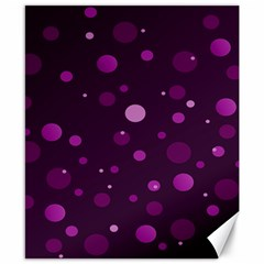 Decorative Dots Pattern Canvas 8  X 10