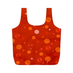 Decorative dots pattern Full Print Recycle Bags (M)