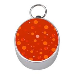 Decorative dots pattern Mini Silver Compasses