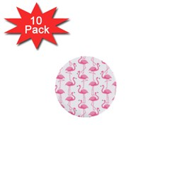 Pink Flamingos Pattern 1  Mini Buttons (10 pack)
