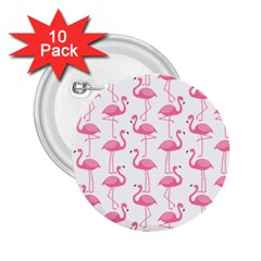 Pink Flamingos Pattern 2.25  Buttons (10 pack)