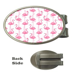 Pink Flamingos Pattern Money Clips (oval)