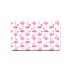 Pink Flamingos Pattern Magnet (Name Card)