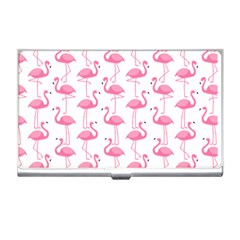 Pink Flamingos Pattern Business Card Holders