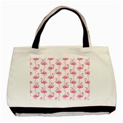 Pink Flamingos Pattern Basic Tote Bag (two Sides)