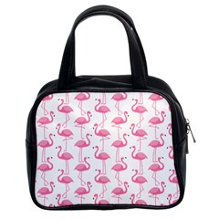 Pink Flamingos Pattern Classic Handbags (2 Sides)