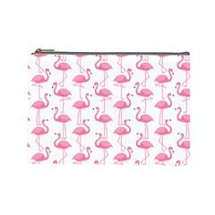Pink Flamingos Pattern Cosmetic Bag (Large)