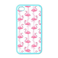 Pink Flamingos Pattern Apple iPhone 4 Case (Color)