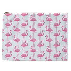 Pink Flamingos Pattern Cosmetic Bag (xxl)
