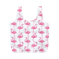 Pink Flamingos Pattern Full Print Recycle Bags (m)