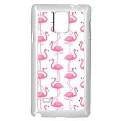 Pink Flamingos Pattern Samsung Galaxy Note 4 Case (white)