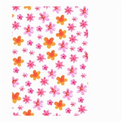 Watercolor Summer Flowers Pattern Small Garden Flag (Two Sides)