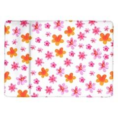 Watercolor Summer Flowers Pattern Samsung Galaxy Tab 10.1  P7500 Flip Case