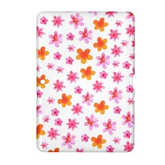 Watercolor Summer Flowers Pattern Samsung Galaxy Tab 2 (10.1 ) P5100 Hardshell Case