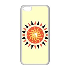 Yin Yang Sunshine Apple iPhone 5C Seamless Case (White)