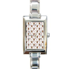 Christmas Trio Pattern Rectangle Italian Charm Watch