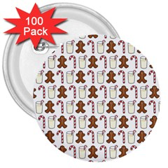 Christmas Trio Pattern 3  Buttons (100 Pack)