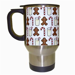 Christmas Trio Pattern Travel Mugs (white)