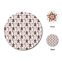 Christmas Trio Pattern Playing Cards (Round)