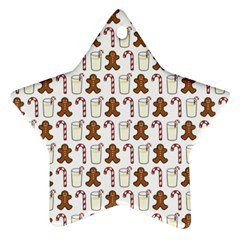 Christmas Trio Pattern Star Ornament (Two Sides)